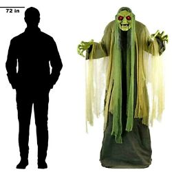 Animated Halloween Swamp Witch Featuring Light - Sound And Motion / Life-size
