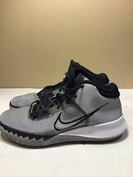Used Nike Ct1972 002 Menand039s Kyrie Flytrap Iv Grey/black/white Shoes Basketball