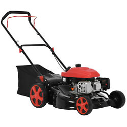 Walk Behind Push Lawn Mower 20in 161cc Gas-powered Adjustable Cutting Height
