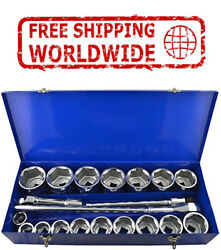 25mm 1 Drive Impact Socket Set 36 To 80mm 90mm Length 10 Sockets And 4 Aceess.