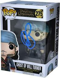 Orlando Bloom Pirates Of The Caribbean Autographed 275 Will Turner Funko Pop