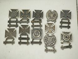 Wwii Sterling Army Rifle And Hand Grenade Marksman, Sharpshooter, Expert Badges 11