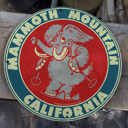 Vintage 1953 Mammoth Mountain California And039david Mccoyand039 Porcelain Gas And Oil Sign
