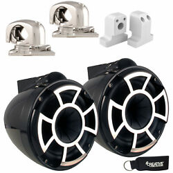 Wet Sounds For Supra Fxone Rev 8 Swivel Clamp Tower Speakers Black With Brackets