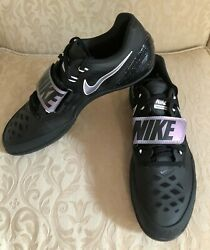 Nike Zoom Rotational 6 Black Silver Track Throw Put Discus 685131-003 Size10
