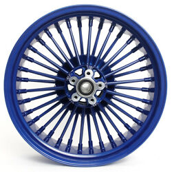 18and039and039 X 5.5 Blue Rear Wheel For Dyna Street Bob Super Glide Low Rider Wide Glide