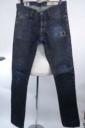 Rgt Rogue Territory Sk Selvedge Jeans Skinny Fit Men Size 34 X 36 Made In Usa