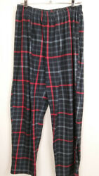 Pijama Women's Pants Size Large Plaid Elastic Waist High Rise Relaxed Casual