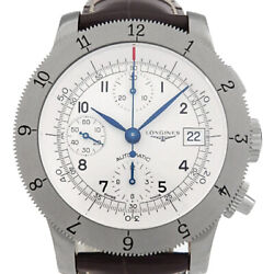 Longines Whale Chronograph L2.741.4 Menand039s Automatic Silver Deal