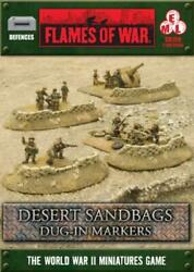 Battlefront Fow Wwii 15mm Desert Sandbags - Dug-in Markers New