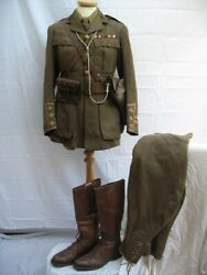 Wwi Officers Rank Of Captain Royal Engineers Complete Uniform Group.