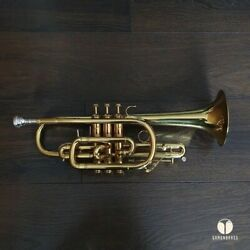 Late 50and039s Bach Mt Vernon New York Cornet Case Mouthpiece | Gamonbrass