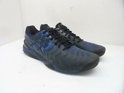 Asics Menand039s Gel-resolution 7 Athletic Tennis Sneaker E701y Blue/black Size 12.5m