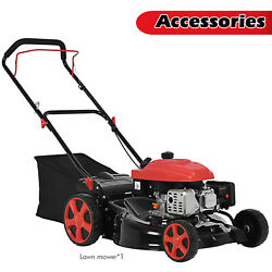 161cc 20in Fwd Self-propelled Gas Powered 2in1 High-wheeled Lawn Mower For Yard