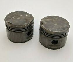 2pc Continental 4557 Piston Vintage Aviation Equipment Aircraft Replacement Part