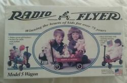 Vintage Radio Flyer Wagon Model 5 1995 Little Red Steel Toy Made In Usa New