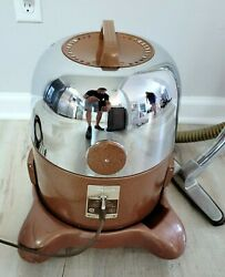 Vintage Chrome Rainbow Rexair Model D Vacuum Cleaner With Hose And Attachment