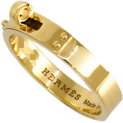 Hermes Kelly Tpm K18yg Yellow Gold Ladies Ring With Box Made In France