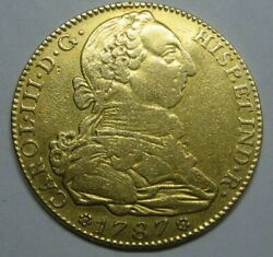 1787 Madrid 4 Escudos Charles Iii Gold Spain Doubloon Spanish Colonial Era