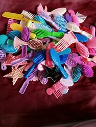 Large Lot Doll Combs And Brushes