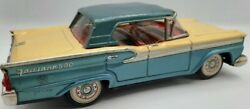 Nice 1960s Ford Fairlane 500 Friction Vintage Toy Car Tin Metal Japan Automobile