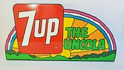 Vintage Original Peter Max 7up Sign Bright And Beautiful Not A Reproduction