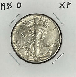 1935-d Walking Liberty Half Dollar - Xf - Extremely Fine - 90 Silver