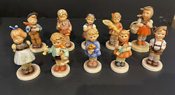 """Lot Of 10 Assorted Vintage Hummel Goebel Figurines 3"""" To 4"""" Inches Tall"""