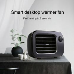 Portable Ceramic Space Electric Heater Adjustable Thermostat Overheat Protection