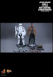 Finn And First Order Riot Control Stormtrooper Star Wars Figure Mms346 Hot Toys