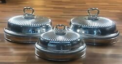 Fine Quality Set Of Meat - Dish Cover - Silver Plated - Sheffield Circa 1820
