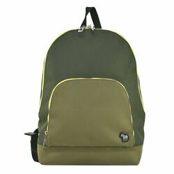 Paul Smith Backpack Mens Zebra Daily Commuting To Work School Black System Green