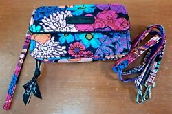 Vera Bradley#x27;s ALL IN ONE CROSSBODY for PHONE in FLORAL FIESTA Purse Bag NWOT $30.00