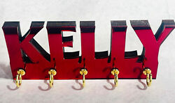 Personalized Acrylic Key Ring Holder Wall Mount Holder Key Chain Rack-colors