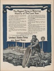 1918 United States Tires Us Rubber Biggest Thing In Motoring History Wwi Era Ad
