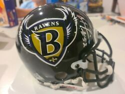 Ray Lewis Baltimore Ravens Signed Mini Helmet Signed In Person Hall Of Fame Nfl