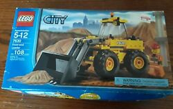 Lego 7630 City Front End Loader. Used Ready To Build W/instructions And Box