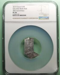 Ngc Pf70 France 2019 Fall Of The Berlin Wall 30th Anniversary Silver Coin S10e