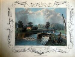 Antiques Six 6 Framed English Countryside Circa 1840 9 1/4 X 7 1/4 Beauties