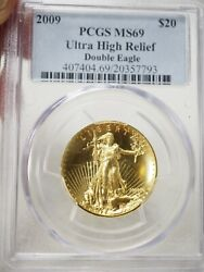 2009 Ultra High Relief double Eagle gold 20 pcgs Ms 69 7793