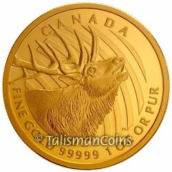 Canada 2017 Bugling Elk Call Of The Wild 200 .99999 Pure Gold Proof Serial 11