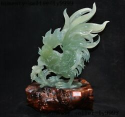China Natural Xiu Jade Green Jadeite Poultry Animal Chick Rooster Cock Statue