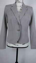 212 Collection Women's Size 4 Gray Long Sleeve Button Front Relaxed Fit Formal