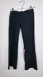 Bebe Sport Women's Pants Size Small Black Low Rise Elastic Waist Relaxed Casual