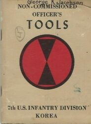 Historical Book - Ncoand039s Tools 7th Us Infantry Division Korea 1970and039s