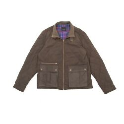 Ted Baker Mens Bushmill Quilted Jacket Khaki Size 5 Xl Full Zip Classic Casual