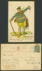 Dudley Hardy Artist Signed 1904 Old Postcard You Can Do Till You Try Hunter Bird