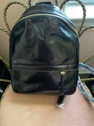 Hobo Black Leather City Backpack Nwt From Dillards