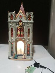 Rare 1999 Mr. Christmas Village Silhouttes Lighted Motion Cathedral Churh In Box