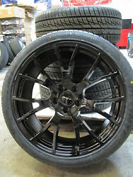 22 Jeep Grand Cherokee Hellcat Style New Gloss Black Wheels Tires Set Of Four